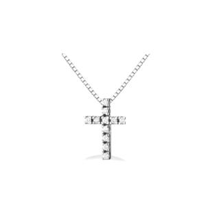 Pendente a croce con diamanti