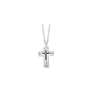 Pendente croce con pietre