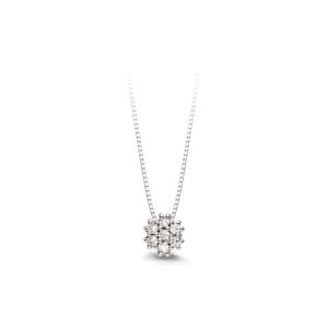 Pendente in oro bianco con diamanti