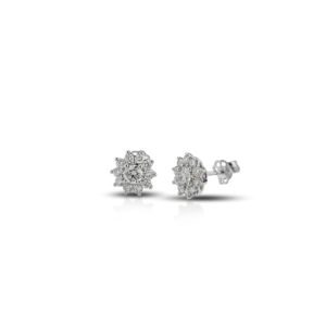 Orecchini in oro bianco con diamanti